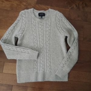 Banana Republic Cable Knit sparkly wool mohair sweater size S